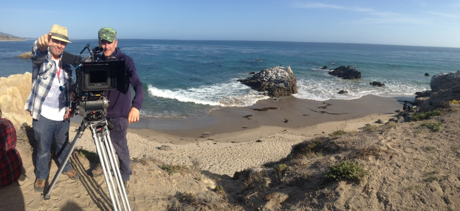 Toby and Greg pano Malibu